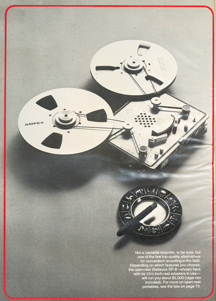 1979 photo of the Stellavox SP-8 reel to reel tape recorder in   Reel2ReelTexas.com's vintage recording collection