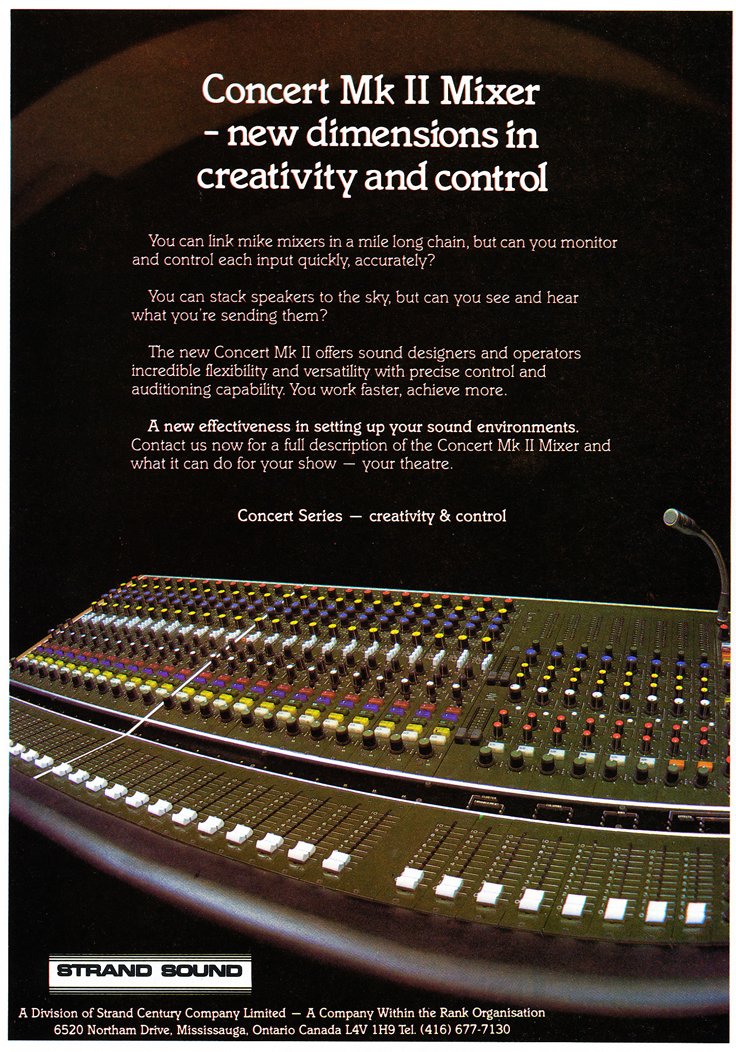 1979 ad for the Strand Sound consoles in Reel2ReelTexas.com's vintage recording collection