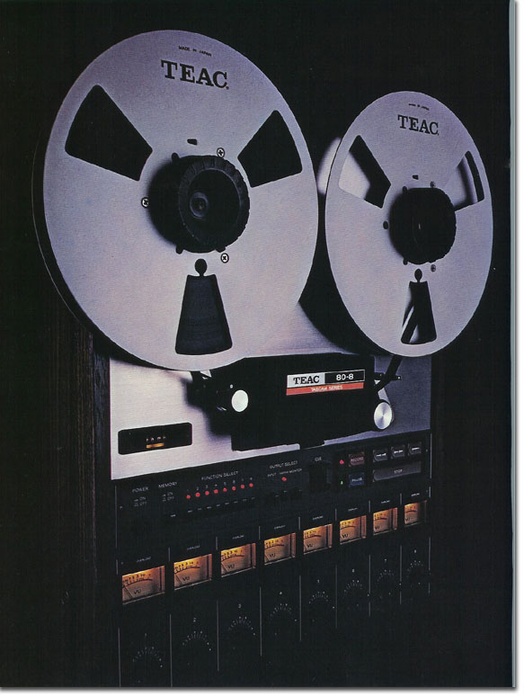 pictures of the Teac 80-8 from the 1979 Teac Tascam brochure