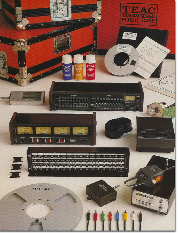 pictures of Teac Accessories from the 1979 Teac Tascam brochure