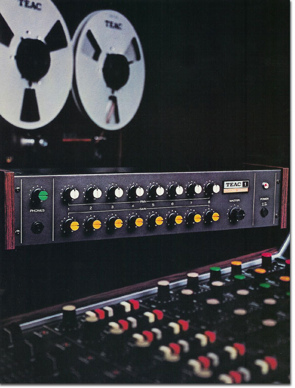 pictures of the Teac Model 1 from the 1979 Teac Tascam brochure