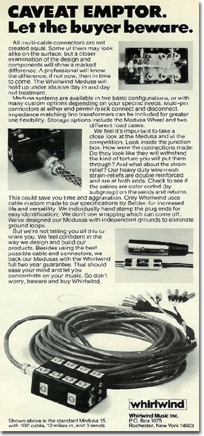 picture of 1979 ad for Whirlwind Medusa