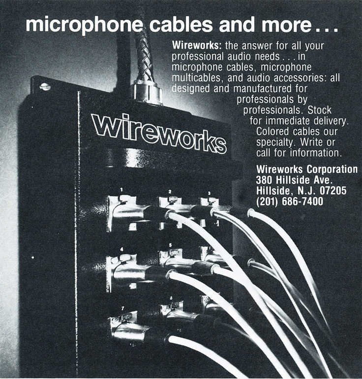 1979 ad for Wireworks in Reel2ReelTexas.com's vintage recording collection