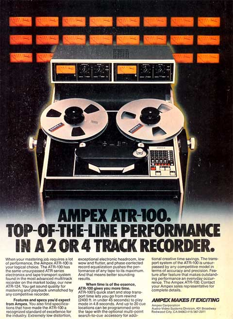 1980 Ampex ATR100 ad in Reel2ReelTexas.com vintage tape recorder collection