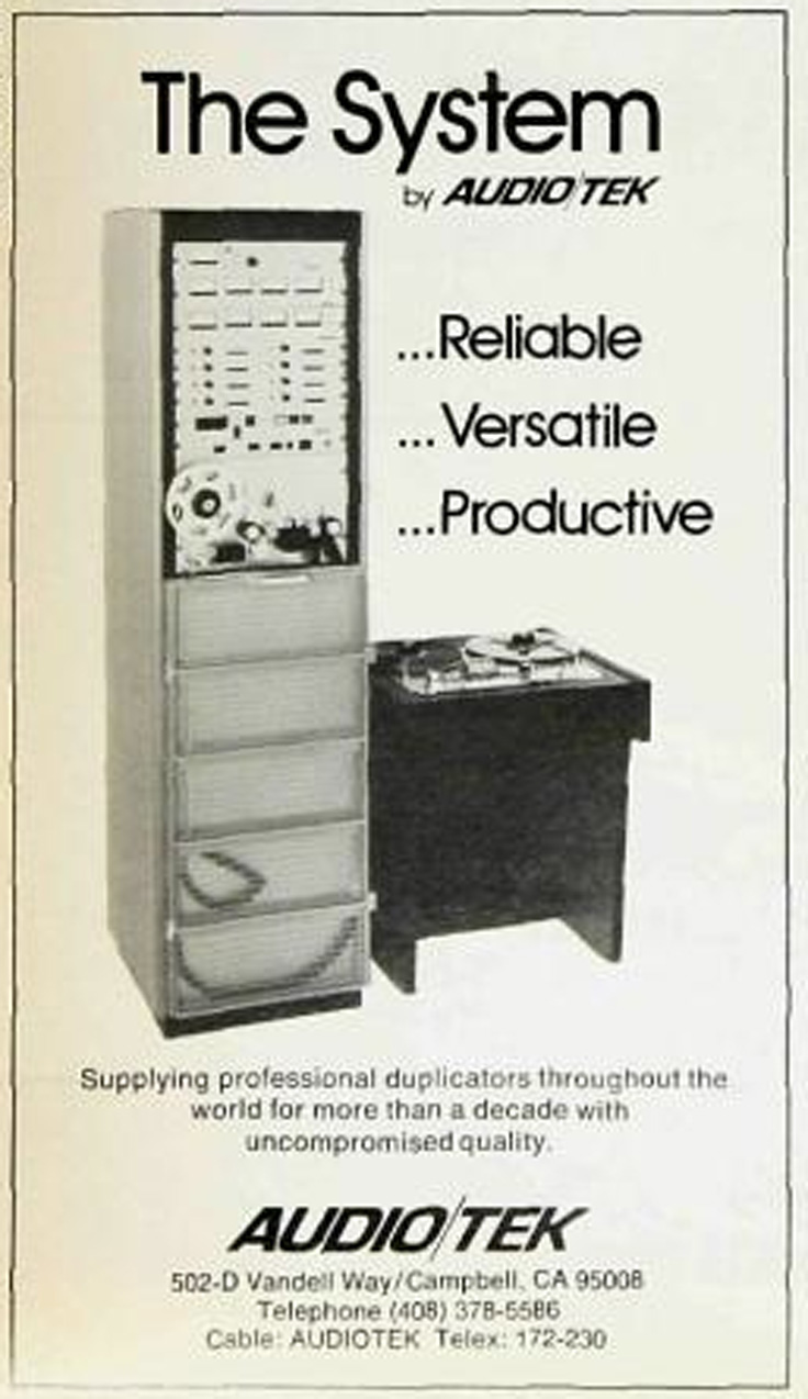 1980 ad for AudioTech