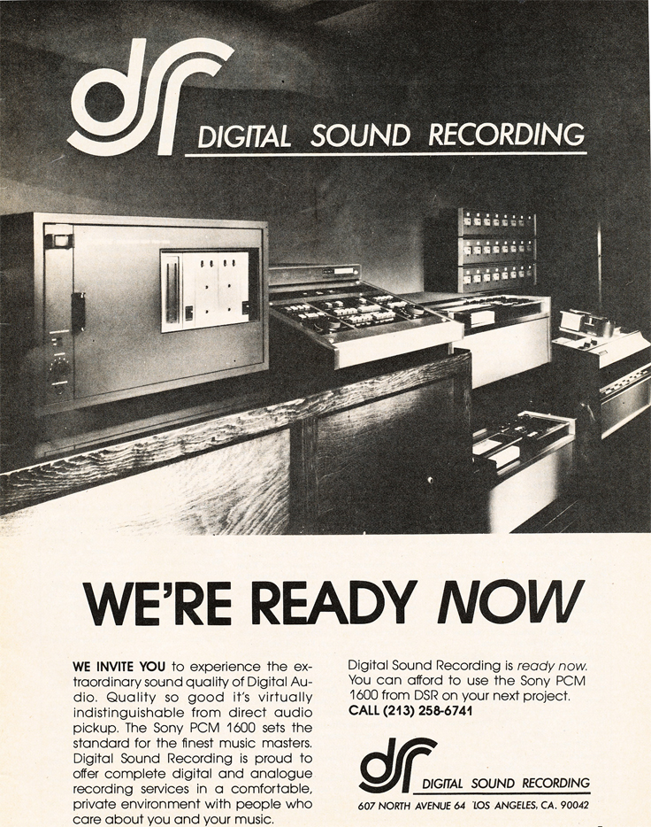 1980 ad for Digital Sound Recording  in Reel2ReelTexas.com's vintage recording collection