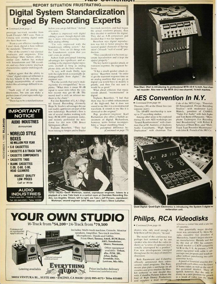 1980 article about the MCI digital recorder in Reel2ReelTexas.com's vintage recording collection