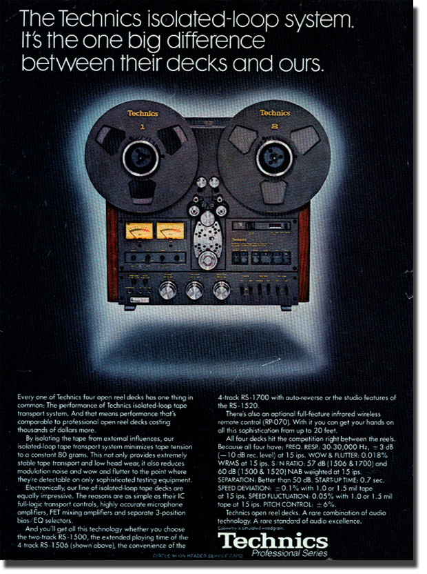 picture of ad of Technics RS-1506