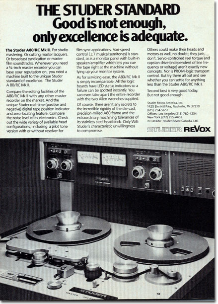 Picture of ad for Studer Revox