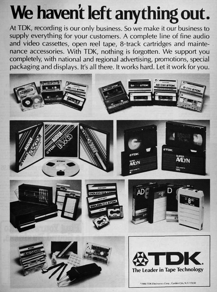1980 ad for TDK reel to reel recording tape in   Reel2ReelTexas.com's vintage recording collection