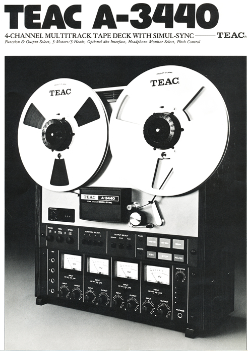 1980 Teac A-3440 reel tape recorder brochure in Reel2ReelTexas.com's vintage reel tape recorder collection