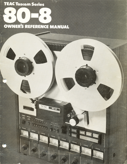 1980 Teac Tascam Model 80-8 8 track reel tape rcorder manual in Reel2ReelTexas.com's vintage reel tape recorder collection