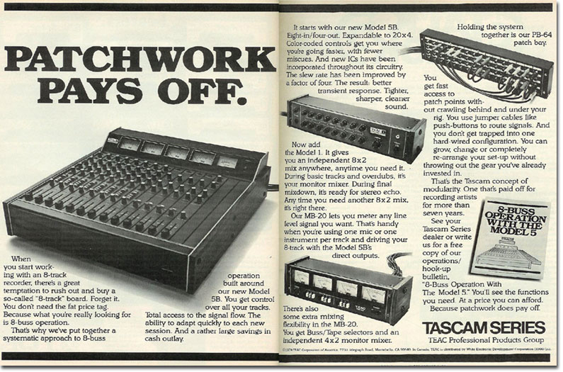 picture of ad for Teac Model 5A, 5B & Model 1 + MB 20 meter bridge