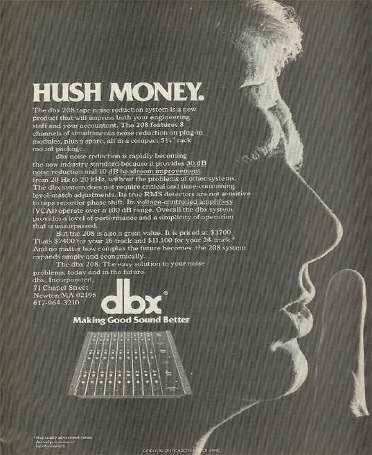 picture of 1980 ad for dbx