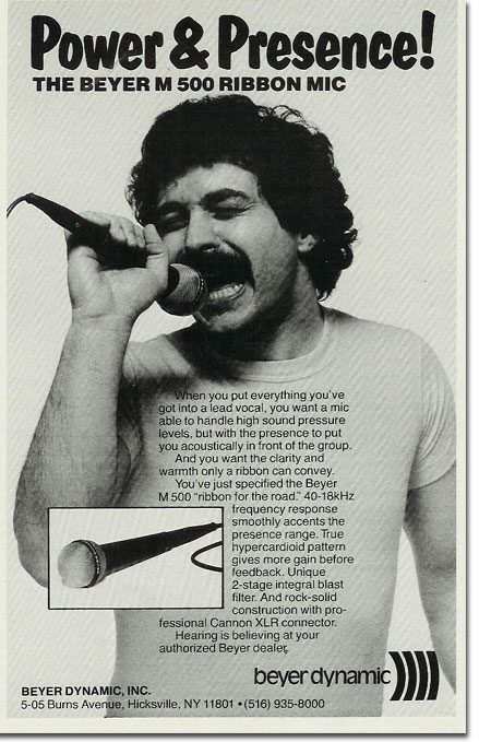 picture of 1982 Beyer microphone ad