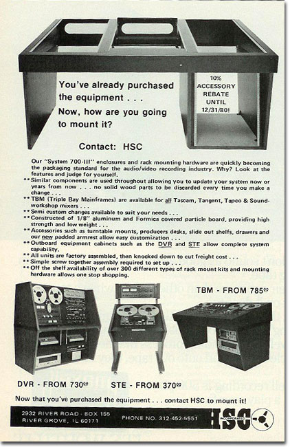 picture of HSC equipment furniture