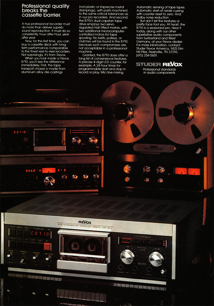 1082 ad for Revox in Phantom Productions' vintage recording collection