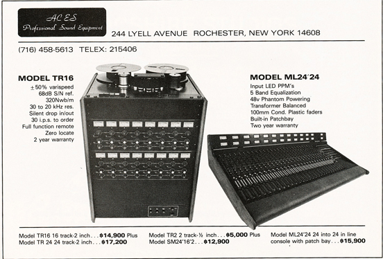 1983 ad for ACS Professional Sound Equipment in Reel2ReelTexas.com's vintage recording collection