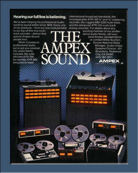 1983 ad for Ampex multitrack recorders