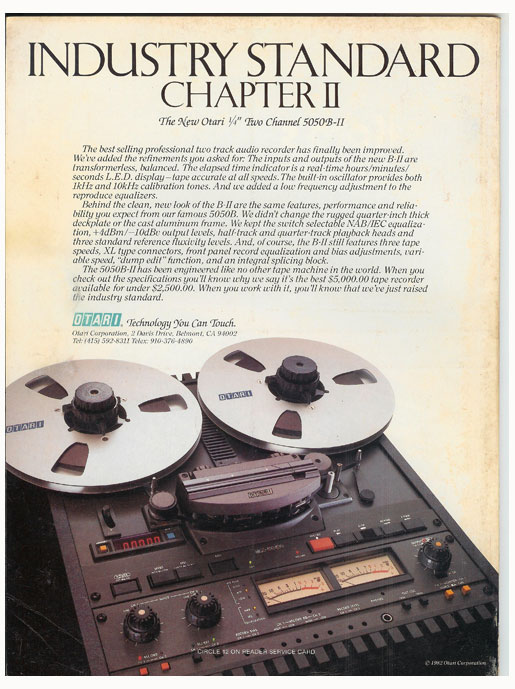 picture of 1983 Otari MX 5050 B II ad in Reel2ReelTexas' vintage reel to reel tape recorder documentation collection