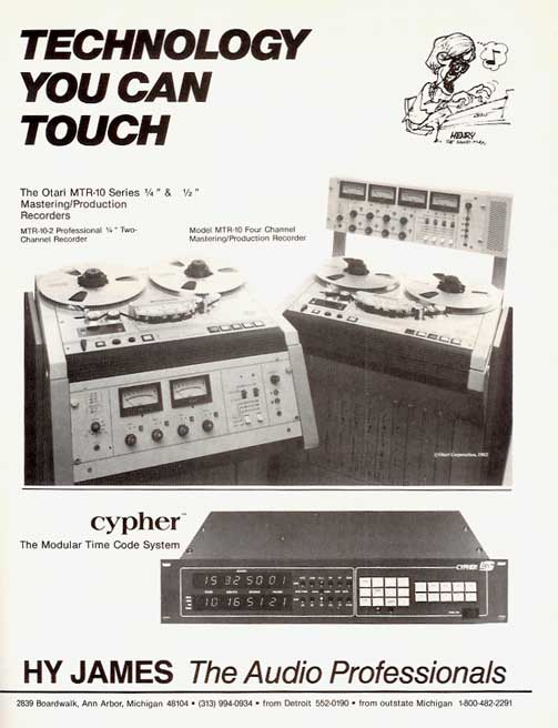 1980 Otari MTR-10 ad in Reel2ReelTexas.com vintage tape recorder collection