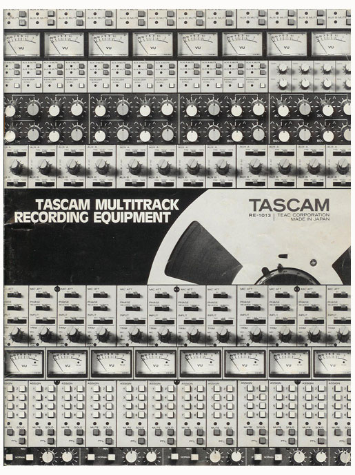 1983 Tascam brochure showing specifications in Reel2ReelTexas.com vintage reel to reel tape recorder collection