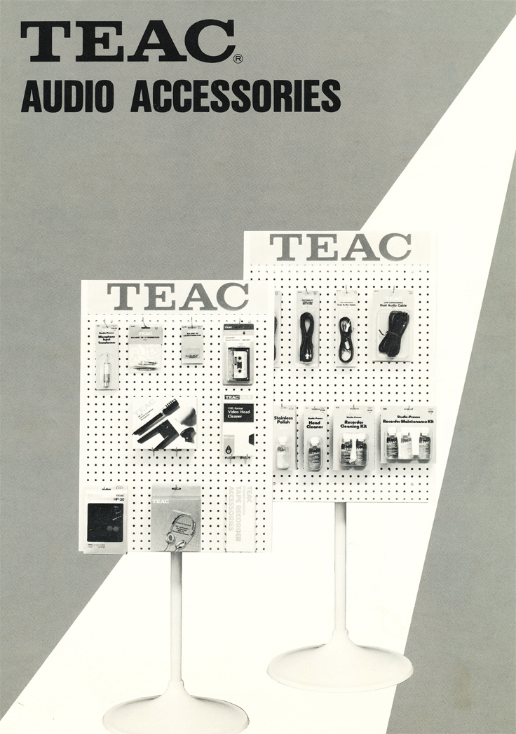 1983 Teac Accessories catalog in Phantom Productions' vintage tape recording collection
