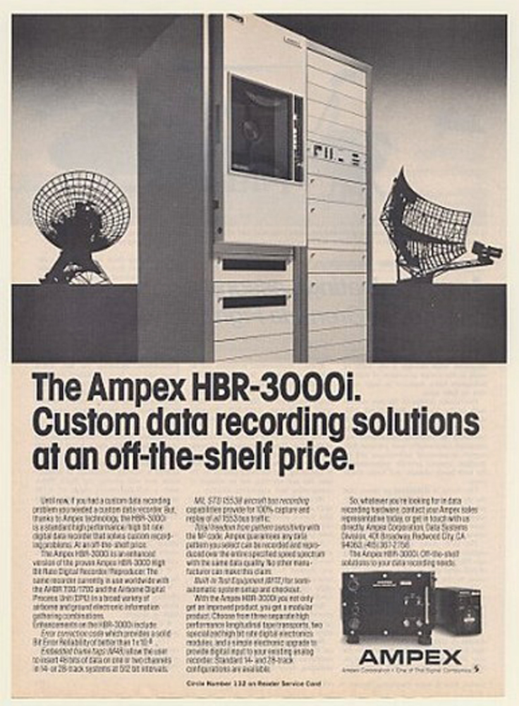 Ampex data recorder HBR-3000i