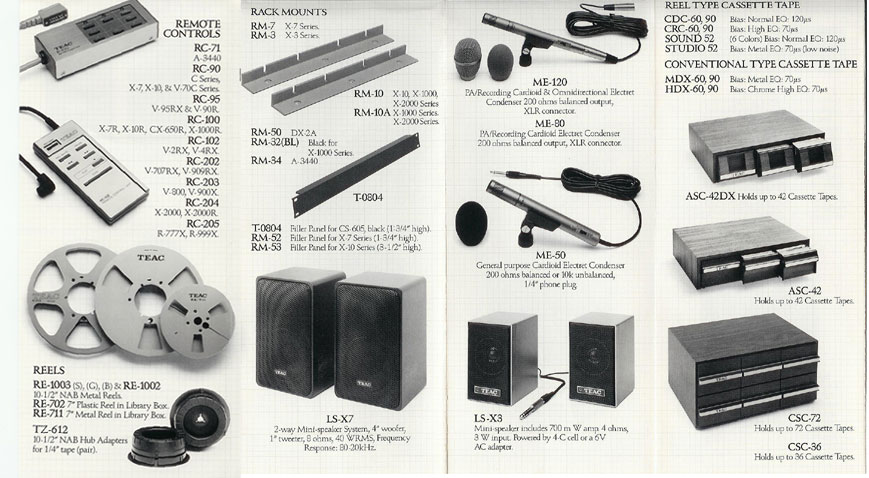 picture of Teac assessories ad in 1984