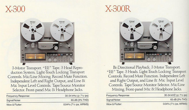 picture of Teac recorders available in 1984