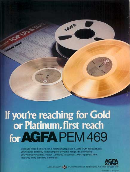 1985 AGFA recording tape ad in Reel2ReelTexas' vintage tape recorder collection