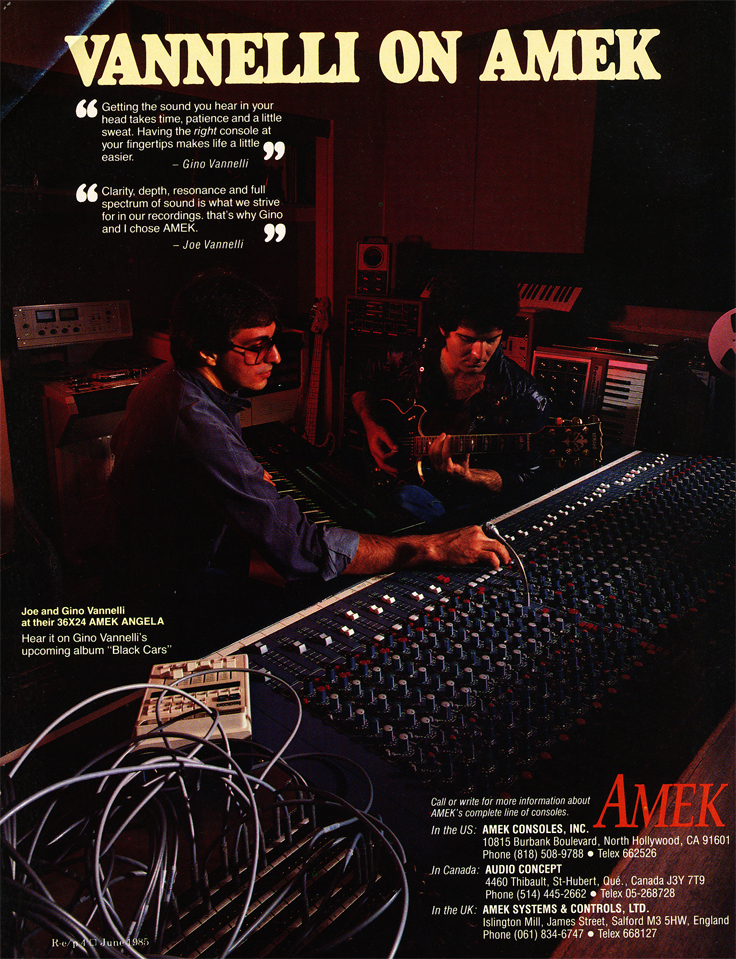 1985 ad for Amekmixers in Reel2ReelTexas.com's vintage recording collection