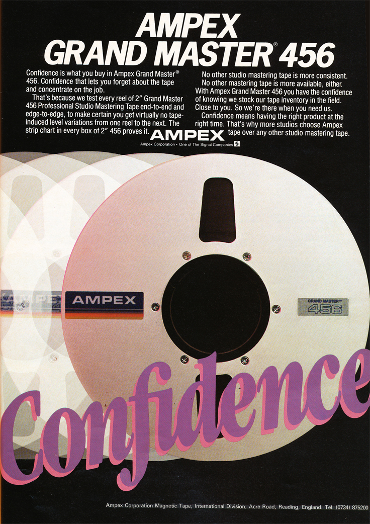 1985 Ampex recording tape ad in Reel2ReelTexas' vintage tape recorder collection