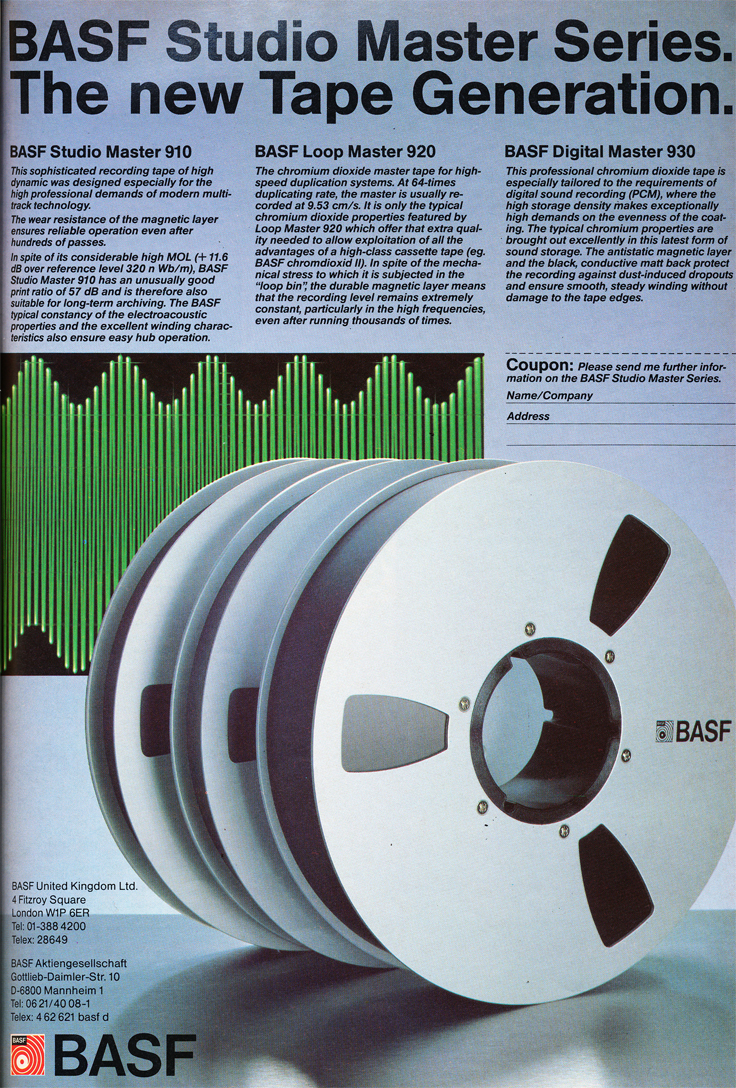 1985 BASF MAster Series  recording tape ad in Reel2ReelTexas' vintage tape recorder collection