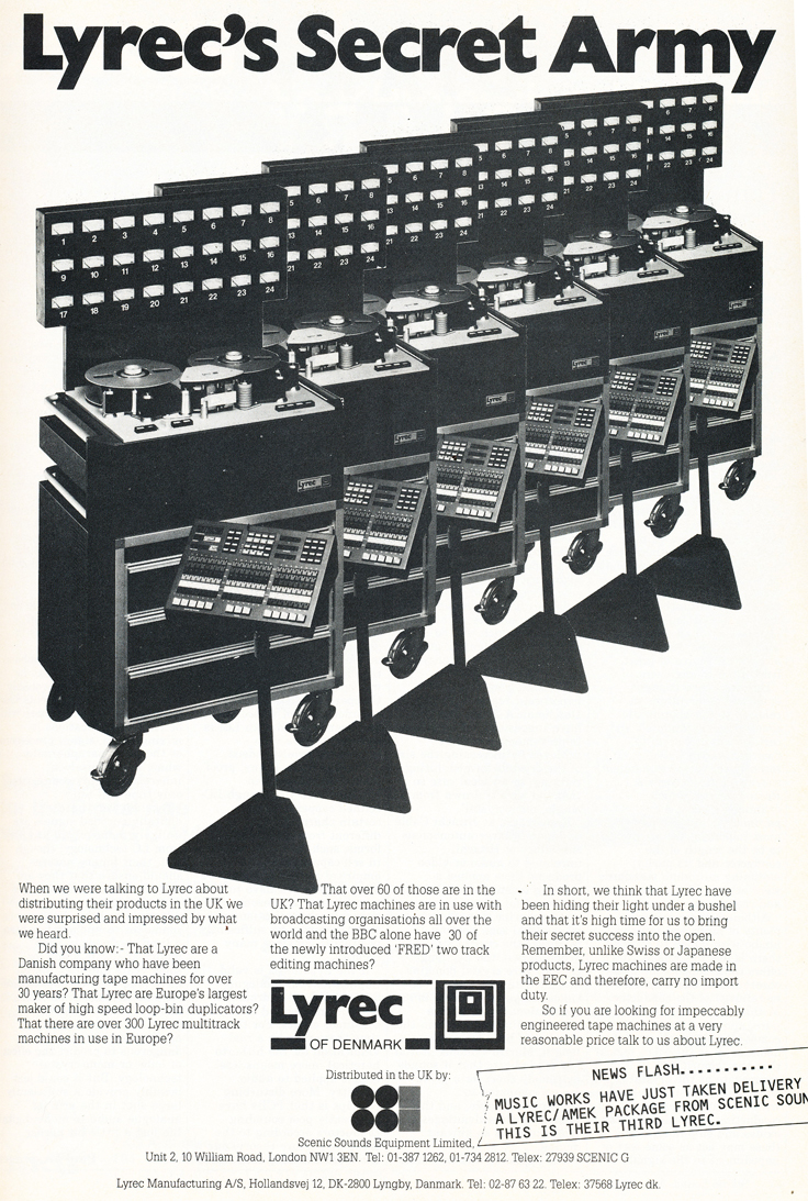 1985 ad for the Lyrec reel to reel tape recorders   in Reel2ReelTexas.com's vintage recording collection