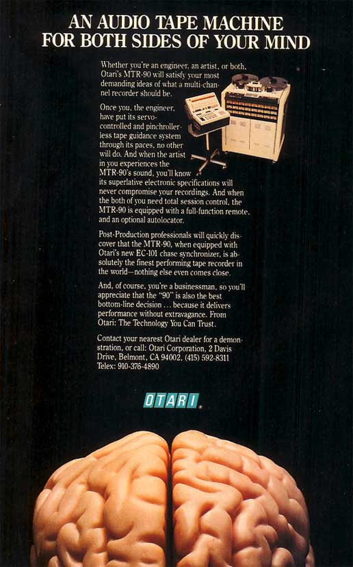 1985 Otari MTR90 tape recorder ad in Reel2ReelTexas' vintage tape recorder collection