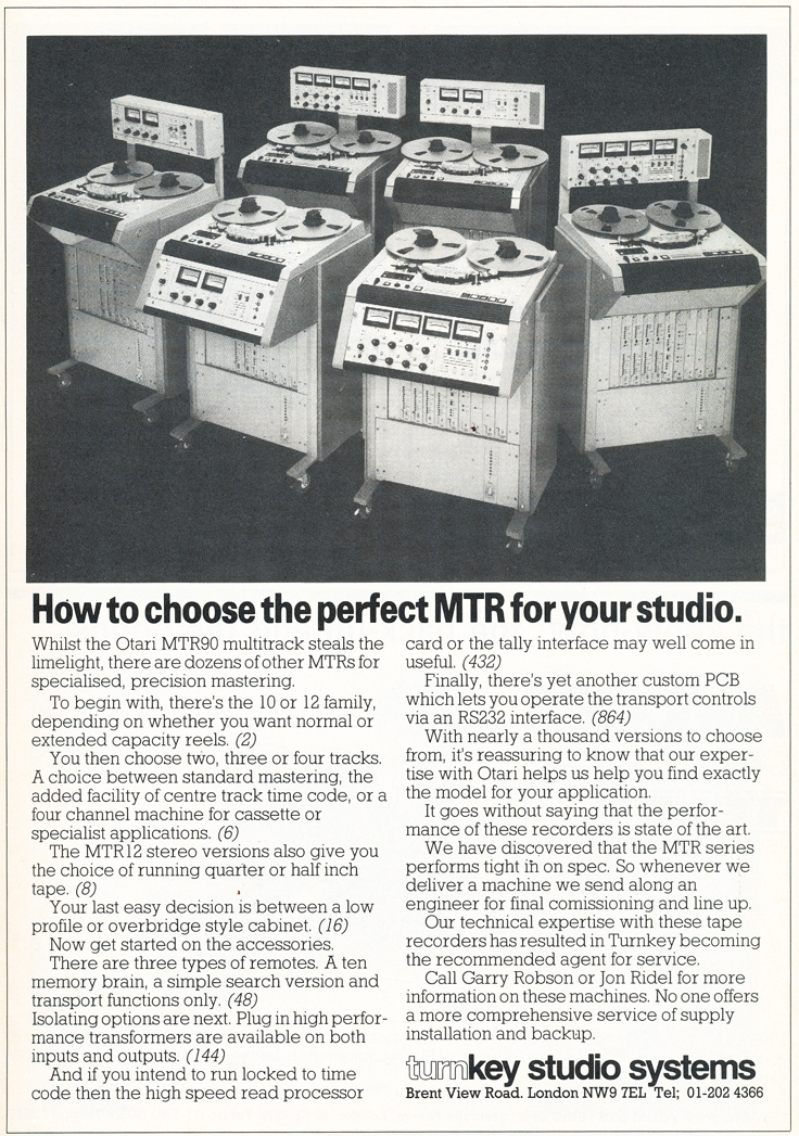 1985 Otari  tape recorder ad in Reel2ReelTexas' vintage tape recorder collection