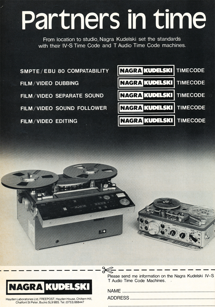 1986 ad for the Nagra IV-S  tape recorder in Reel2ReelTexas' vintage recording collection