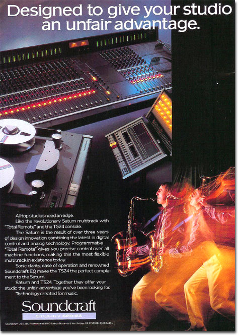 1986 ad for Soundcraft in the Reel2ReelTexas.com's vintage recording collection