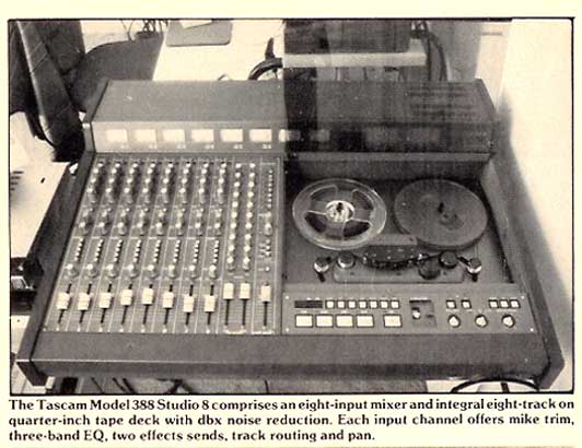 1986 ad Tascam 388 in Reel2ReelTexas' vintage tape recorder collection