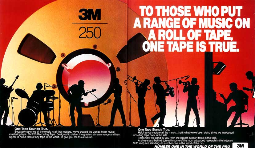 1987 3M recording tape ad in Reel2ReelTexas.com's vintage recording collection