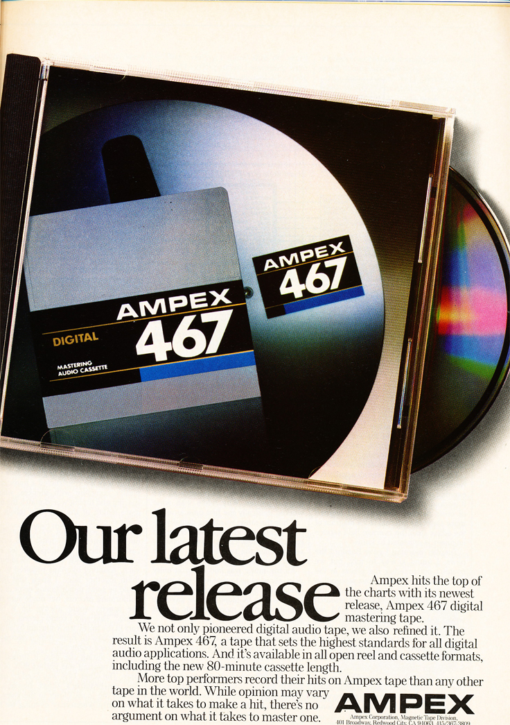 1987 Ampex tape ad in Reel2ReelTexas' vintage recording collection