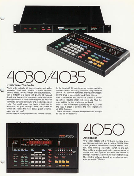 Phantom's 1987 Fostex reel recorder brochure