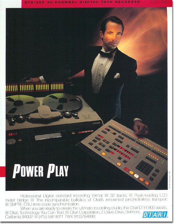 picture of Otari tape recorder ad from 1987