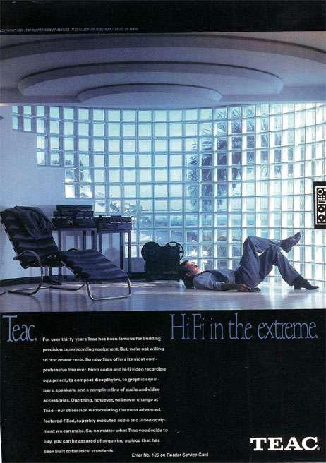 picture of 1987 Teac reel tape recorder ad
