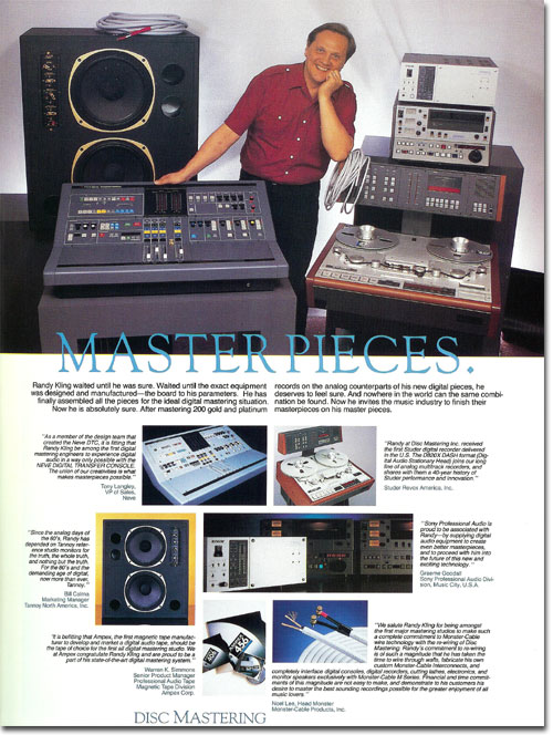 picture of Disc Masters ad1989 Disc Mastering ad in   Reel2ReelTexas.com's vintage recording collection from 1988
