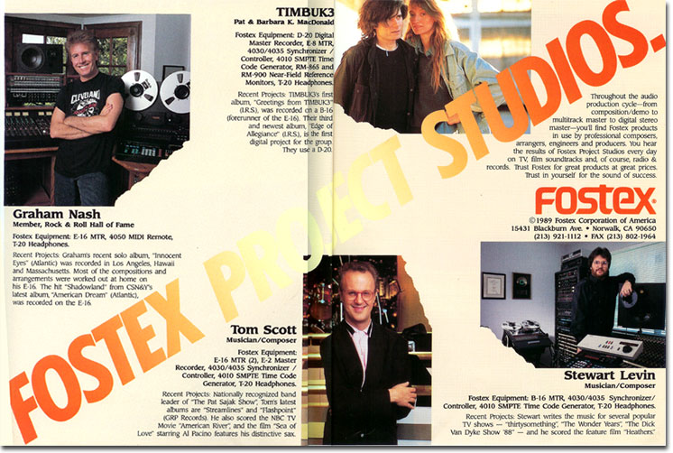 picture of Fostex reel tape recorder ad from 1989