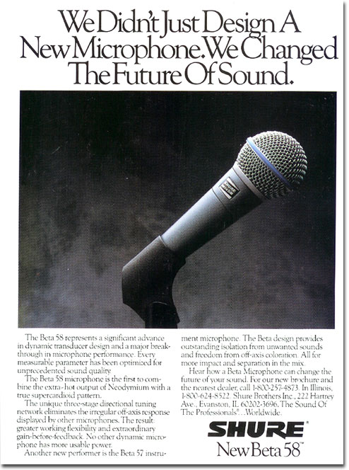 picture of Shure microphone from 1989