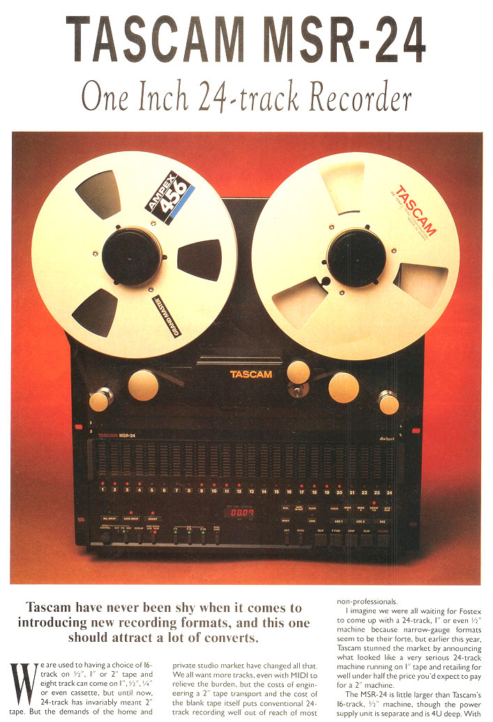 picture of article on Tascam MSR-24 reel tape recorder