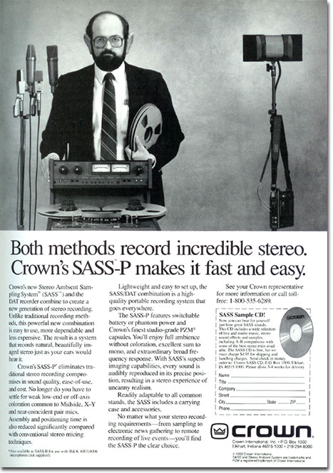 picture of Crown ad from 1991